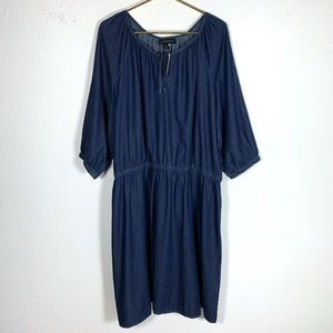 NWT Lane Bryant Chambray Denim keyhole dress